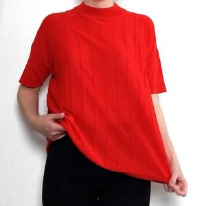 COS Red Knit Shirt
